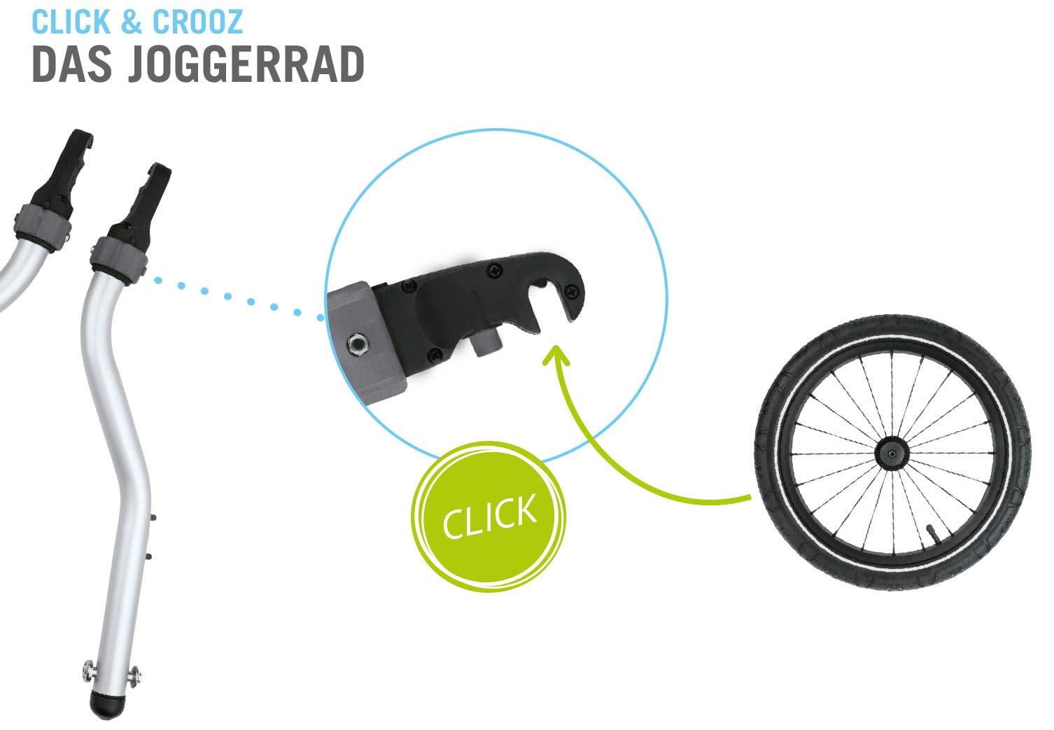 Croozer Joggerrad mit Klick